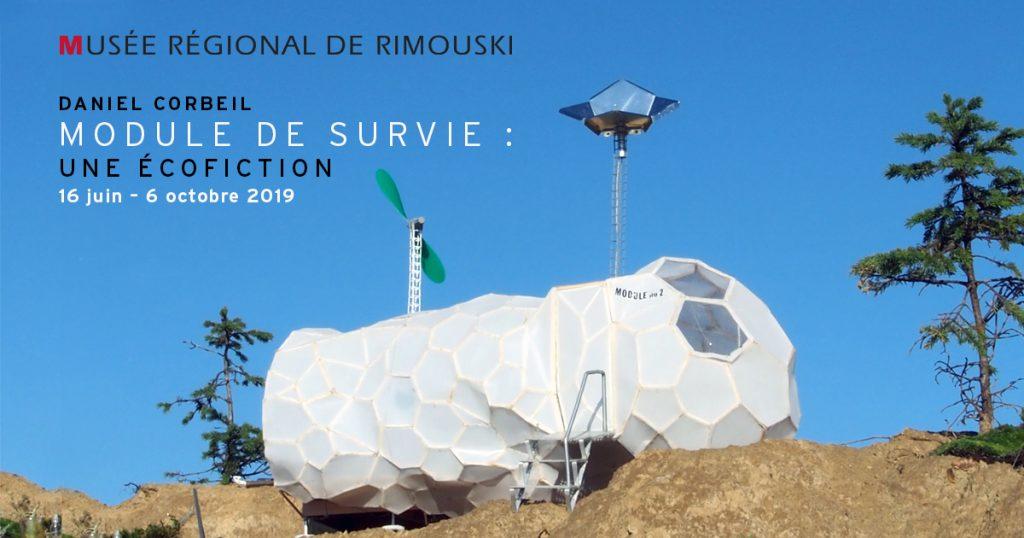 Exemple d'un module de survie installé dans un désert.