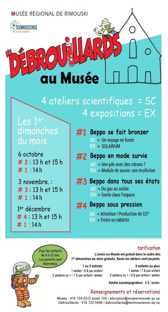 Les Débrouillards au Musée, 4 ateliers scientifiques et 4 expositions